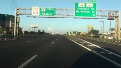 I-45 GULF FREEWAY, GALVESTON TO HOUSTON, TEXAS, USA