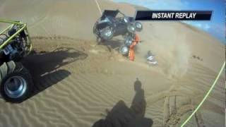 Glamis Rzr crash and roll over