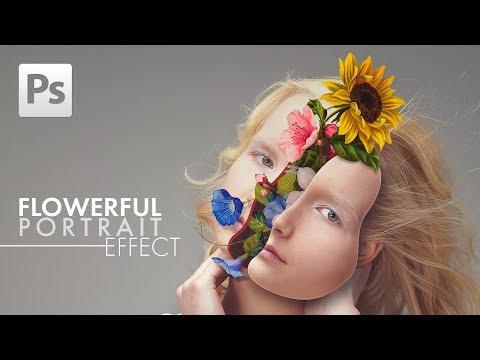 Photoshop Tutorial: Flowerful Portrait Effect