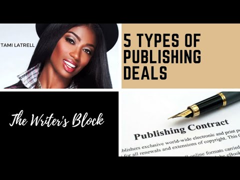 Tami LaTrell  5 Types of Publishing Deals Offered