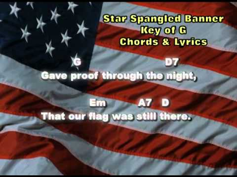 Star Spangled Banner - Chords & Lyrics - YouTube