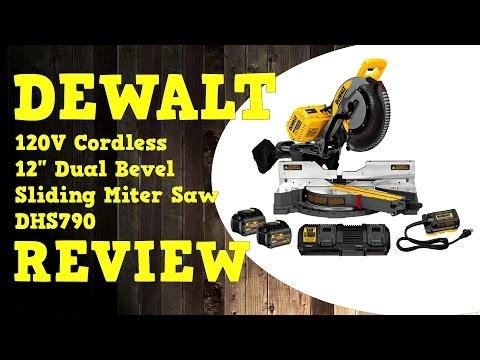 Dewalt Flexvolt 120V 12 Inch Sliding Miter Saw DHS790AT2 Review in 4K