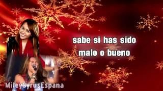 SANTA CLAUS IS COMING TO TOWN En Español - Miley Cyrus