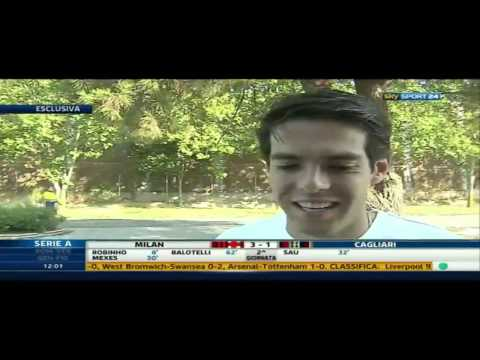 Interview with kaka before travelling to milano this morning 02-09-2013