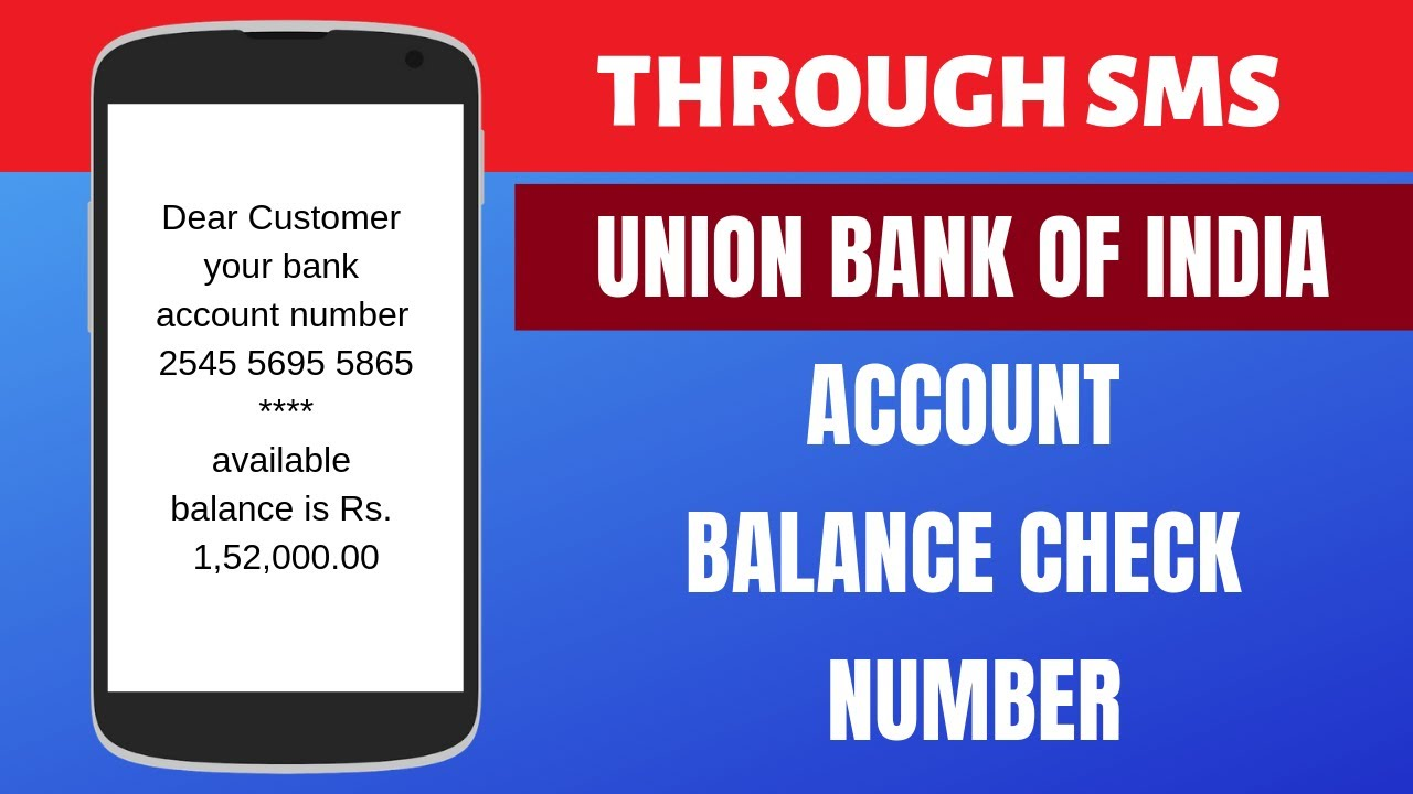 Union bank of india account balance enquiry toll free number