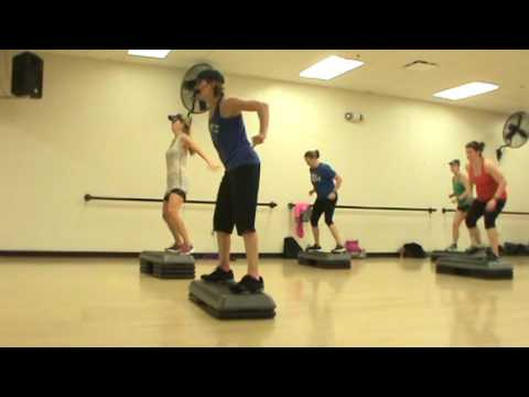 Basic Step Aerobics Group Fitness Class! Dec 1, 2016