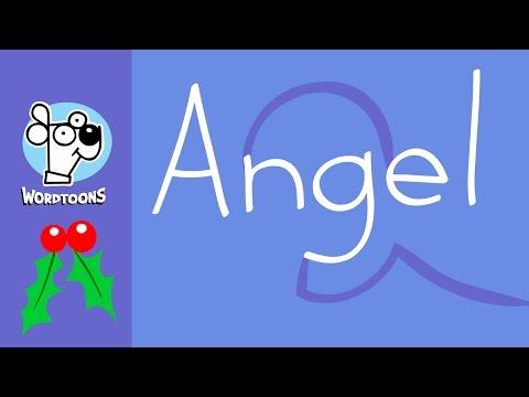 Draw An Angel Using The Word (  Wordtoon Angel )