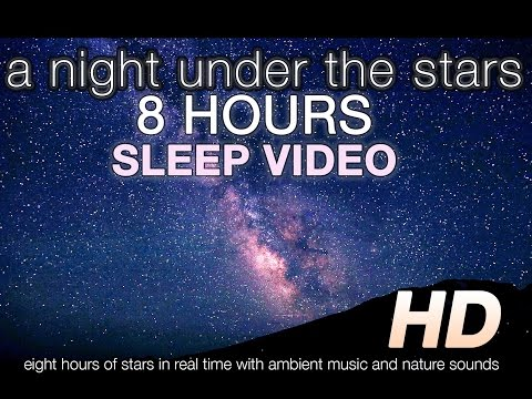 [HD] A Night Under the Stars 8 HR SLEEP ENHANCING VIDEO w/ Cricket & Wave Nature Sounds & Music