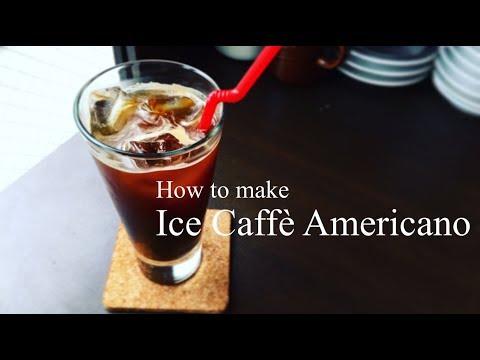 How to make Ice Caffè Americano!!☕︎アイスアメリカーノの作り方!!