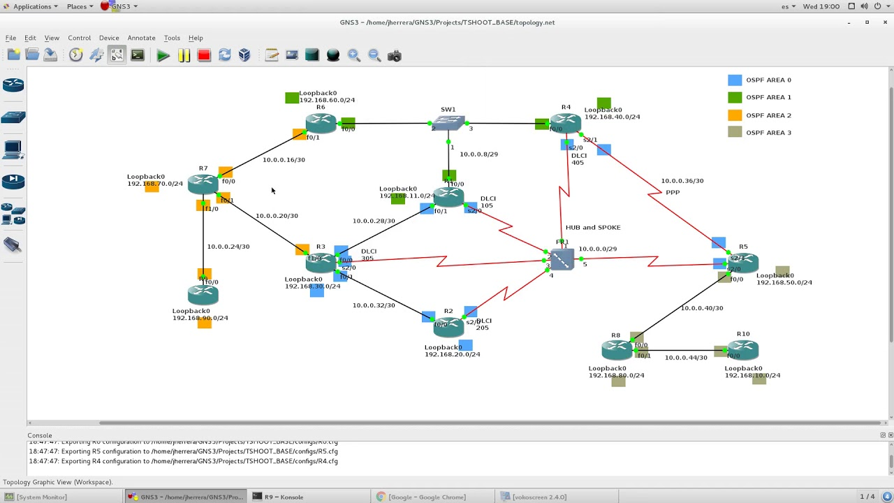 CCNP ROUTE Labs - OSPF Virtual Link - GRE Config 1/1