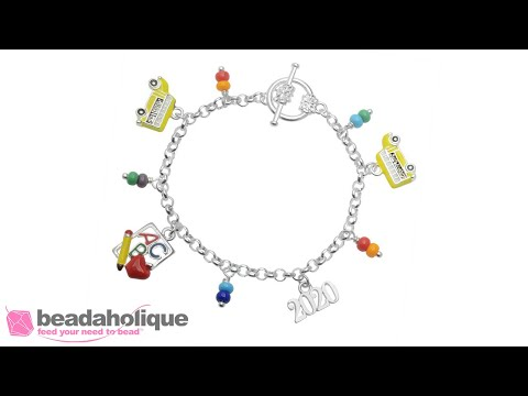 How To Make A Charm Bracelet With Seed Bead Accents
