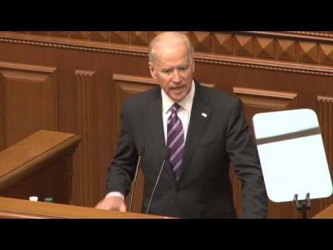 Vice President Joe Biden Delivers Remarks Before the Ukrainian Rada