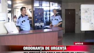 Ordonanţa de Urgenţă majorează salariile poliţiştilor locali