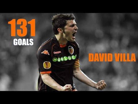 DAVID VILLA - Todos sus goles en el Valencia (2005-2010)