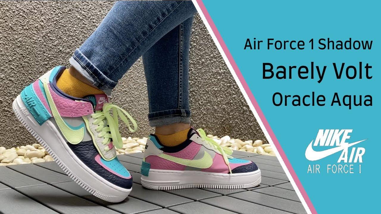 air force 1 shadow white black aurora