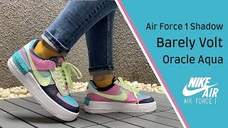 Women S Air Force 1 Shadow Se Oracle Aqua On Feet Close Up 360 Nike mens air force 1 trainers size 9 grey suede sneakers shoes eu 44. women s air force 1 shadow se oracle aqua on feet close up 360