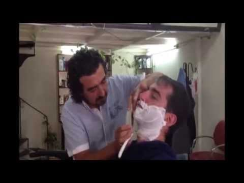Turkish barber in Kusadasi with Rome traditional music