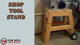In this video I show you how I made a stand for my bandsaw out of 4 - 2x4