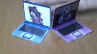 Как сделать Телефон, Планшет и Ноутбук для кукол Монстер Хай, Эвер Афтер Хай, Барби.