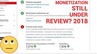 MONETIZATION STATUS STILL UNDER REVIEW 2018