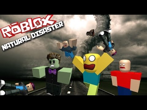 Roblox Natural Disaster Run Away From The Tornado Youtube