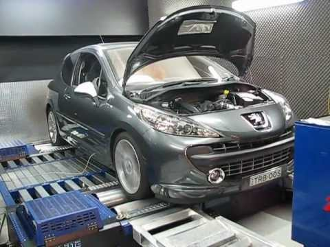peugeot 207 gti on dyno after tune youtube. Black Bedroom Furniture Sets. Home Design Ideas