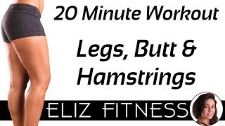 Fat Burning Sculpt for Legs, Thighs & Glutes ♥ No Equipment Workout, Butt Lift Tone | Eliz Fitness