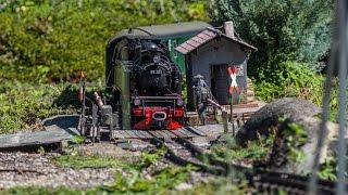 LGB Gartenbahn Südpfalz - ganze Strecke mit Mitfahrt - August 2016 - Schmalspur