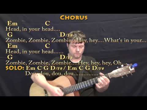 Zombie (The Cranberries) Guitar Lesson Chord Chart with Chords/Lyrics