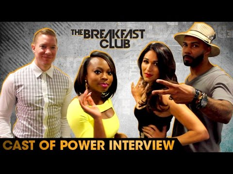 Cast of Power  With The Breakfast Club 71516