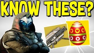 Destiny 2: 15 Secrets & Easter Eggs! (Bet You Didn't Know All of These)