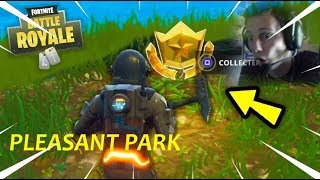 SUIVRE LA CARTE AU TRÉSOR A PLEASANT PARK DE FORTNITE BATTLE ROYALE !