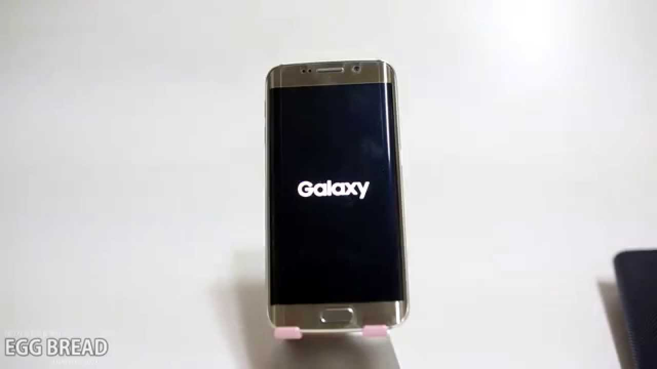 Galaxy S6 EDGE JP,Kr NTT DOCOMO Booting / 갤럭시s6 엣지 부팅 영상
