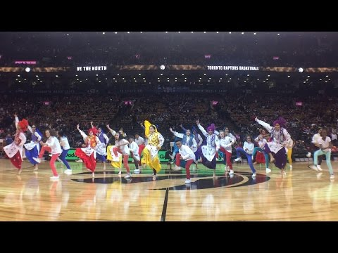 Jade's Hip Hop Academy & House of Bhangra Raptors Half Time Show for Nav Bhatia