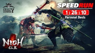 Nioh  Any% Speedrun 1h26m RTA no Load PC Latest Patch