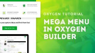 Create a Mega Menu in Oxygen Builder