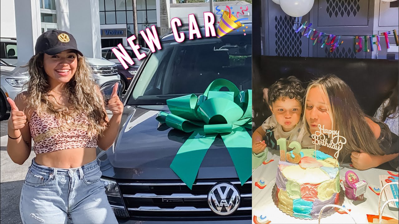 GETTING A NEW CAR & SURPRISING MY SISTER FOR HER BIRTHDAY!