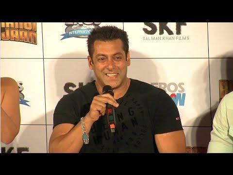 Salman Khan's FUNNY Replies To The Media   Bajrangi Bhaijaan Trailer Launch