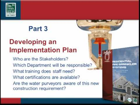 Residential Fire Sprinklers - Tools for Successful Implementation