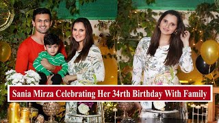 Sania Mirza Celebrating Her 34rth Birthday With Husband And Son