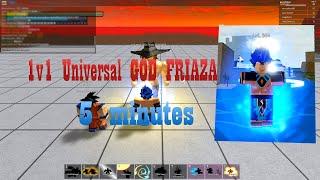 1v1 FRIAZA 1% 5 MINUTES ! ROBLOX DB FINAL STAND