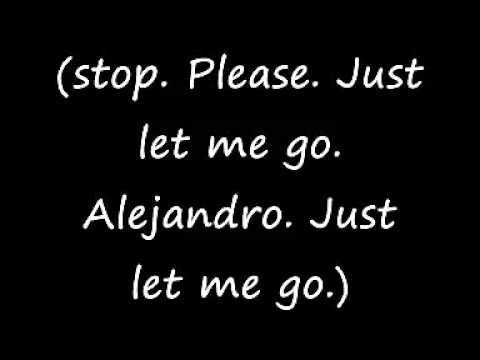 Lady Gaga - Alejandro - Lyrics on screen