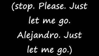 Lady Gaga - Alejandro - Lyrics on screen