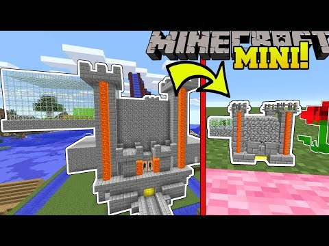 Minecraft: POPULARMMOS MINI CASTLE!!! (TROLLING BLOCKS, SAVAGE CLOUD, & GIANT PICKAXE!)