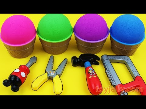 Kinetic Sand VS Mad Matter Kinetic Sand Ice Cream Surprise egg Kinder Surprise Toys Fun for Children
