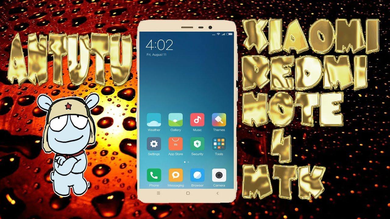 AnTuTu Benchmark MIUI 8 V7 6 10 DEVELOPER BETA CHINA - Xiaomi redmi NOTE 4  MTK