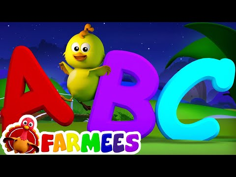 ABC Song  Nursery Rhymes  3D Ba Songs  Alphabet Rhyme  Farmees