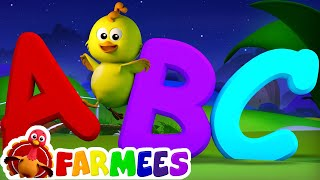ABC Song | Nursery Rhymes | 3D Baby Songs | Alphabet Rhyme by Farmees S01E35