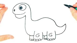 Zapętlaj Cómo dibujar un Dinosaurio para niños | Dibujo de Dinosaurio paso a paso | Dibu Clases