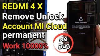 Xiaomi Redmi 4x Remove Unlock Account Mi Cloud Permanent Work 100%